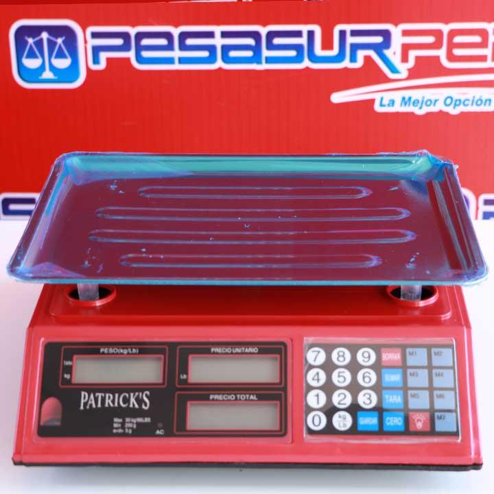 Balanza Digital Comercial Patrick's AC de 30 Kg