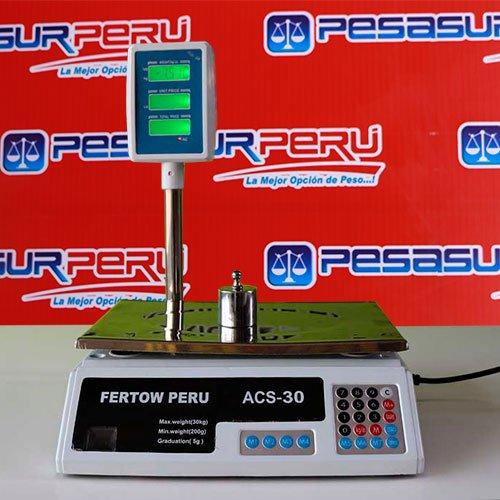 Balanza Digital Comercial Fertow Peru ACS-30 de 30 kg