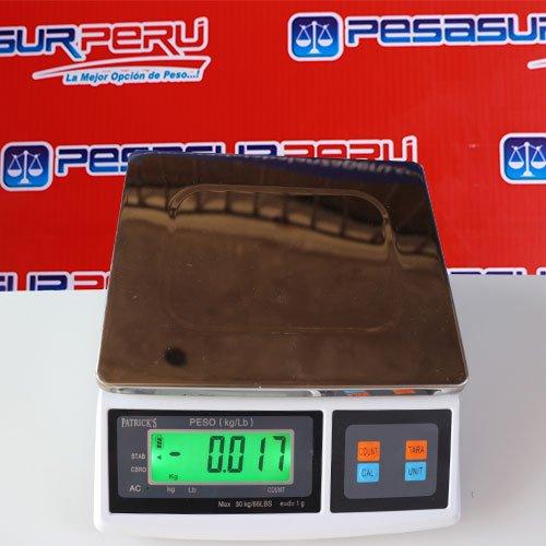 Balanza Digital Gramera Patrick's Solo peso de 30 Kg