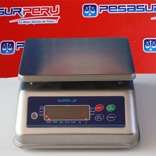 Balanza Digital Gramera Super 6 A prueba de agua de 6 y 15 Kg