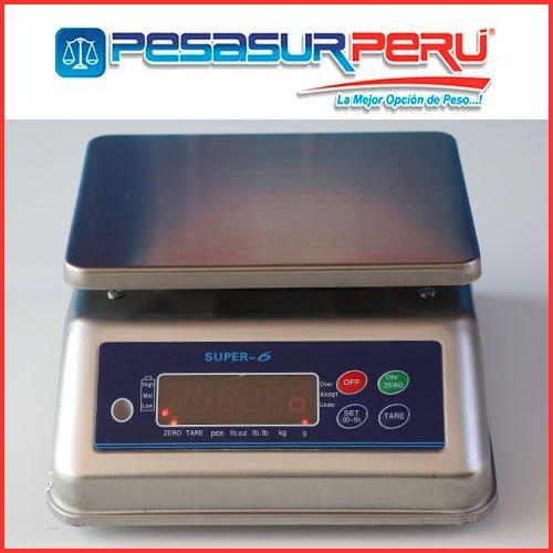 Balanza Digital A prueba de Agua Super 6 de 15 kg